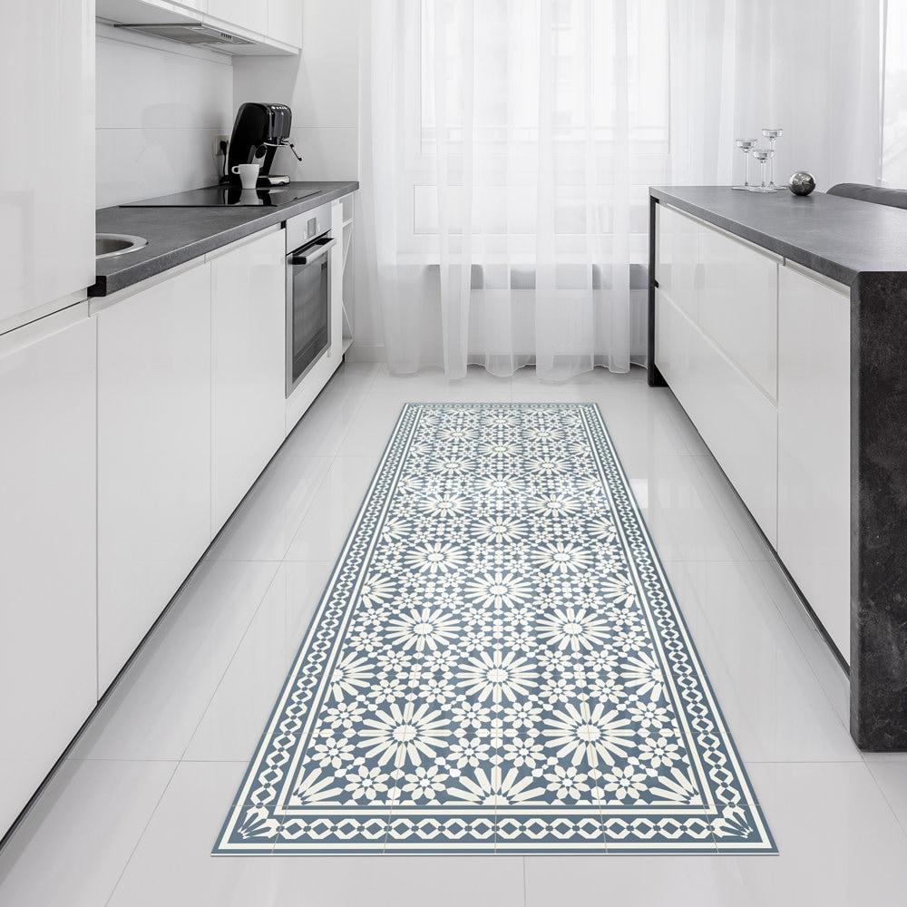 vinyl l ufer teppich oder flur l ufer mit marokkanischen. Black Bedroom Furniture Sets. Home Design Ideas
