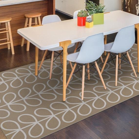 Vinyl-Fußmatte, Teppich, PVC-Matte oder in der Küche-Teppich in Beige mit  Blättermuster. gedruckte Linoleum Teppich, Art-Matte.