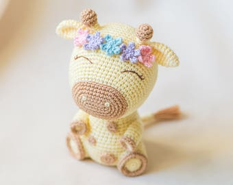 "Crochet Pattern of Giraffe Ellie from ""AradiyaToys Design"" (Amigurumi tutorial PDF file)"