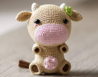 "Crochet Pattern of Cow Mia from ""AradiyaToys Design"" (Amigurumi tutorial PDF file)"