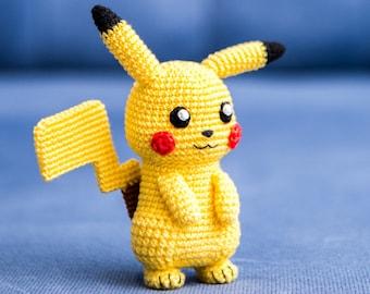 "Crochet Pattern of Pikachu from ""Pokemon"" (Amigurumi tutorial PDF file)"