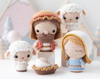 "Nativity Minis from ""AradiyaToys Minis"" collection / nativity crochet pattern by AradiyaToys (Amigurumi tutorial PDF file), mini crochet"