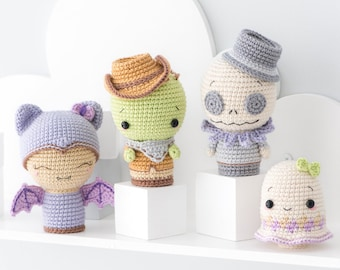 "Halloween Minis set 2 from ""AradiyaToys Minis"" collection / crochet pattern by AradiyaToys (Amigurumi tutorial file), crochet mini"