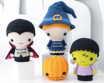 """Halloween Minis set from """"AradiyaToys Minis"""" collection / crochet patterns / Amigurumi PDF tutorial file / crochet mini / halloween crochet"""