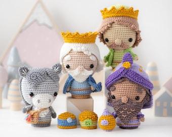 "Nativity Minis set 2 from ""AradiyaToys Minis"" collection / nativity scene crochet pattern by AradiyaToys (Amigurumi tutorial PDF file)"