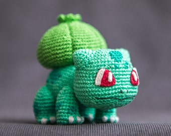 "Crochet Pattern of Bulbasaur from ""Pokemon"" (Amigurumi tutorial PDF file)"