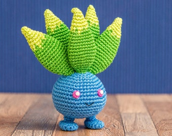 "Crochet Pattern of Oddish from ""Pokemon"" (Amigurumi tutorial PDF file)"