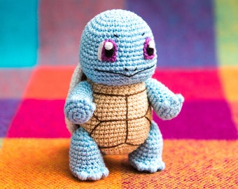"Crochet Pattern of Squirtle from ""Pokemon"" (Amigurumi tutorial PDF file)"