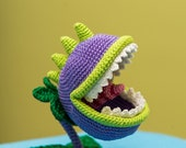 Crochet Pattern of Chomper from quot Plants vs Zombies quot (Amigurumi tutorial PDF file)