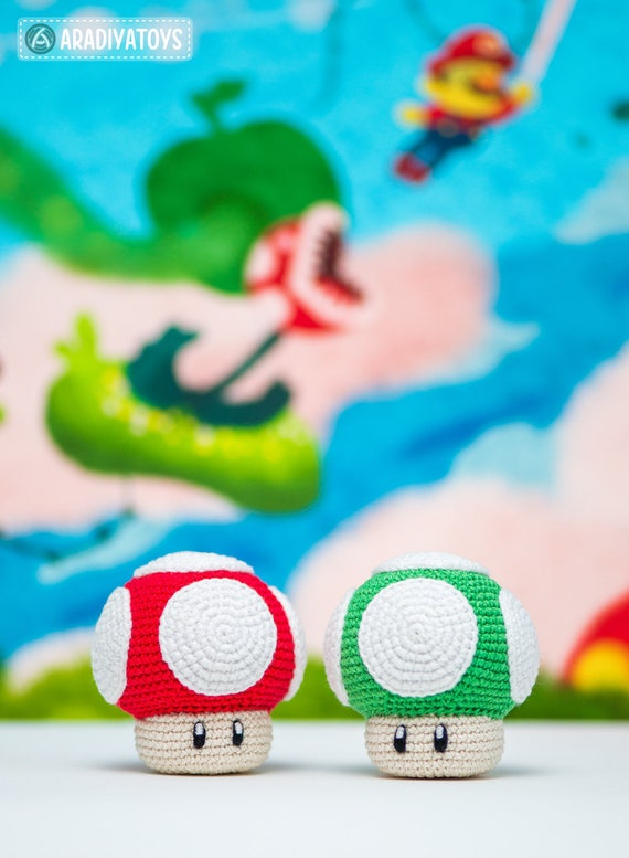 Crochet Pattern Of 1up Mushroom From Super Mario Etsy
