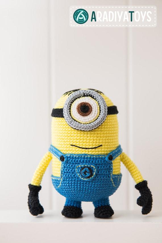 Patrón en crochet de monstruo amarillo con un ojo Tutorial | Etsy