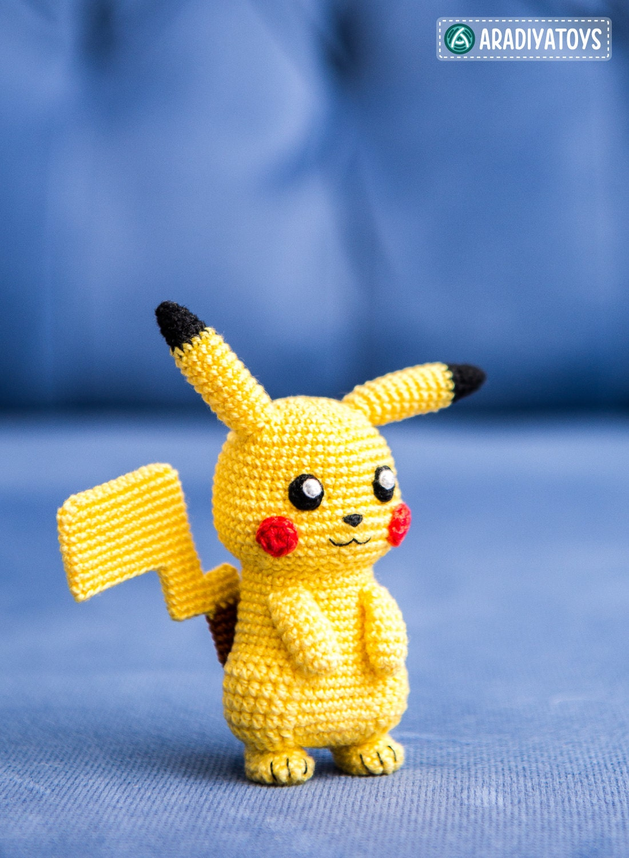 Crochet Pattern Of Pikachu From Pokemon Amigurumi Etsy