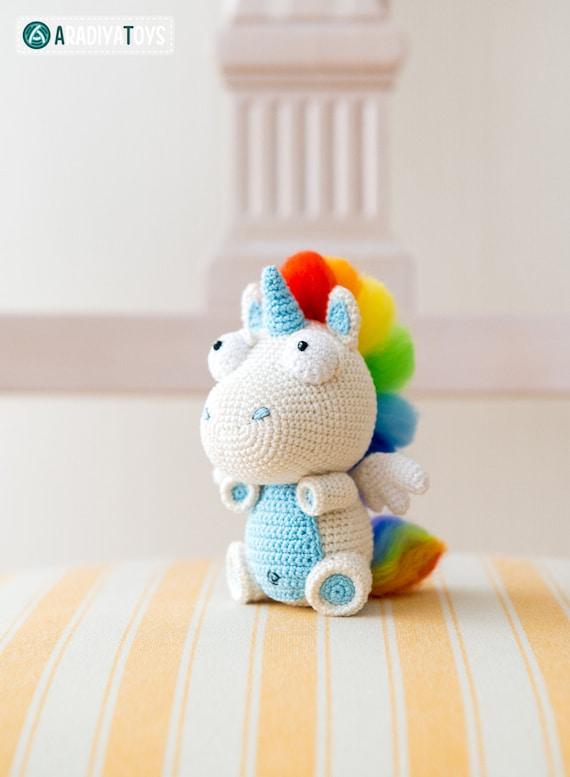 Patrón en crochet de Corki el Unicornio de AradiyaToys | Etsy