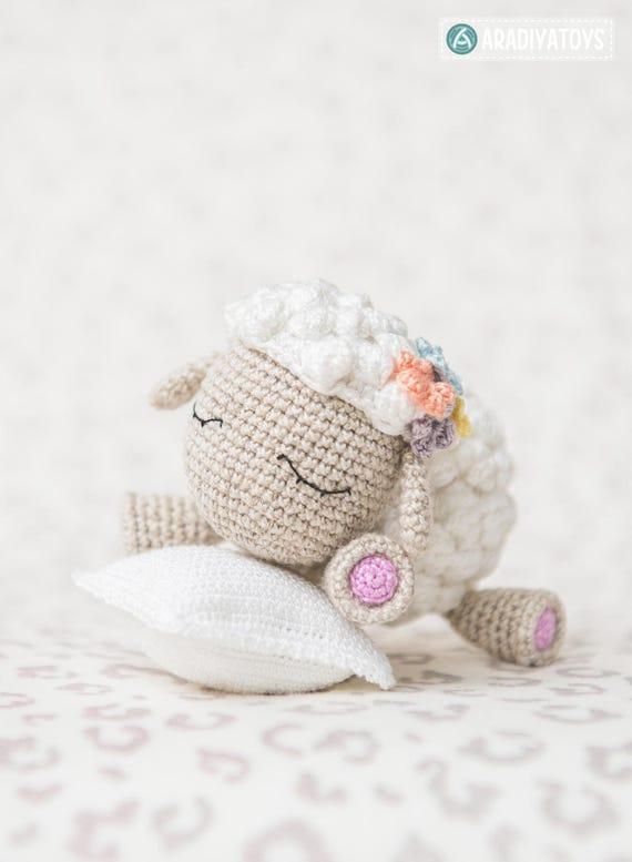 Patrón en Crochet de Shelby la Borrega de AradiyaToys | Etsy
