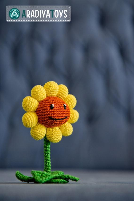 Häkelanleitung für Sonnenblume aus Pflanzen gegen Zombies | Etsy
