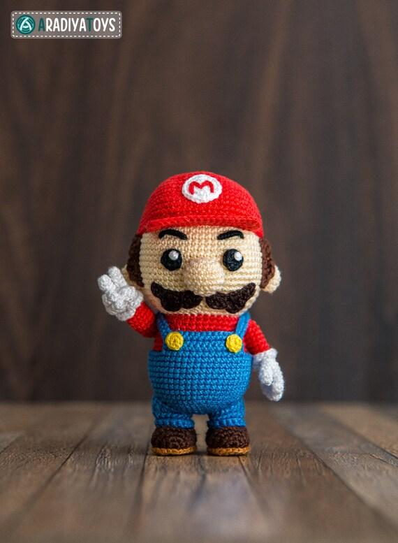 Crochet Pattern Of Mario From Super Mario Bros Etsy