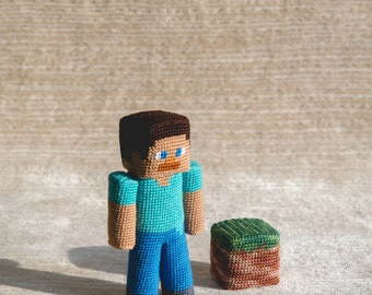 Crochet Pattern of the Guy with piece of dirt (Amigurumi tutorial PDF file)