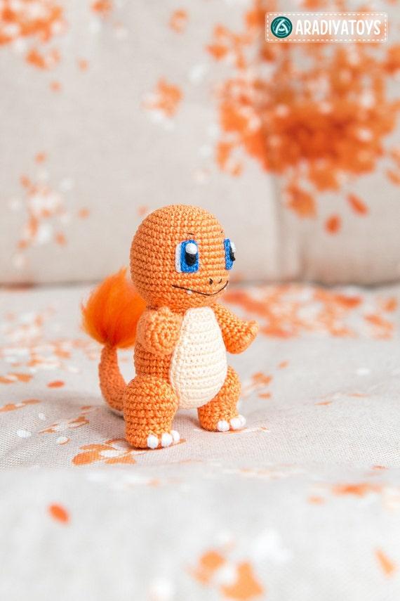 Patrón en Crochet de Charmander de Pokemon Tutorial   Etsy