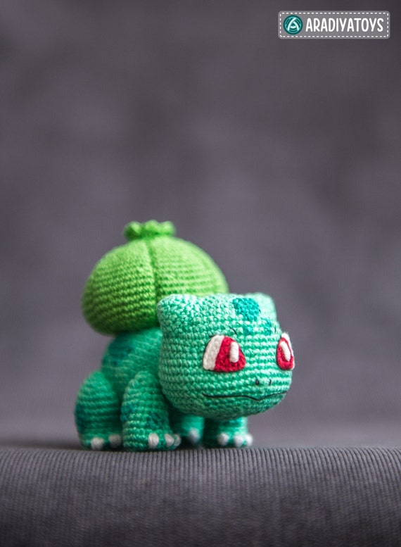 Crochet patrones de Bulbasaur de Pokemon archivo | Etsy