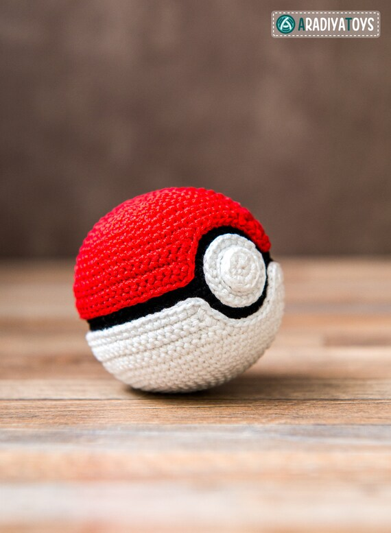 Crochet Pattern of Pokeball from Pokemon | Etsy