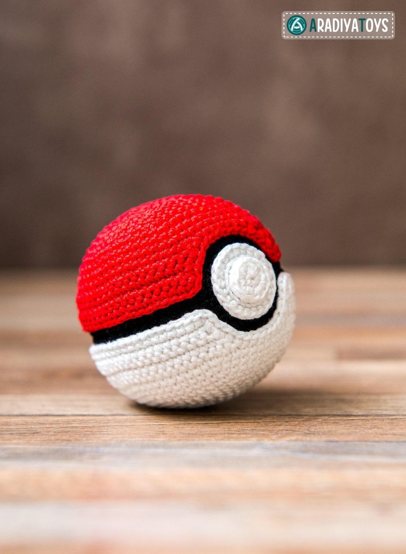 Crochet Pattern Of Pokeball From Pokemon Etsy