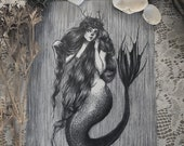 "Mermaid Queen- 8x10""..."
