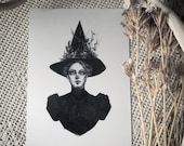 Autumn Witch- 5x7 Print...
