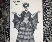 Victorian Bat Lady - Orig...