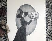 Pumpkin Witch - Original ...