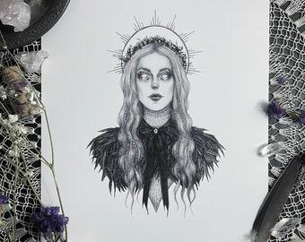 Freya - 5x7 Fine Art Print - Norse Goddess of Love, Beauty, Fertility, and War - Pagan - Witch - Witchcraft - Norse Mythology