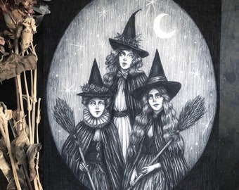 Toil & Trouble - 8x10 Fine Art Print - Coven of Witches - Witchcraft - Magick - Pagan - Dark Art