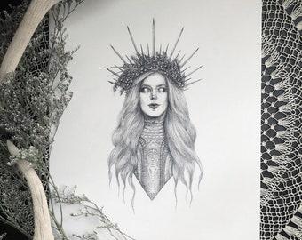 Demeter - 5x7 Fine Art Print - Greek Goddess of the Harvest - Pagan - Witch - Witchcraft