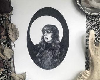 Nadja - Fine Art Print - What We Do in the Shadows - Vampire - Dark Art - Gothic Illustration