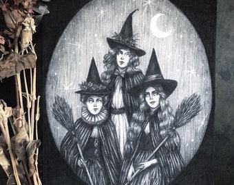 Toil and Trouble - Fine Art Print - Witch Coven - Pagan - Dark Art - Gothic Illustration - Victorian