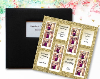 Gold Glitter Photo Booth Guest Book