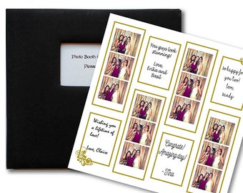 Gold and White Photo Booth Guest Book Album