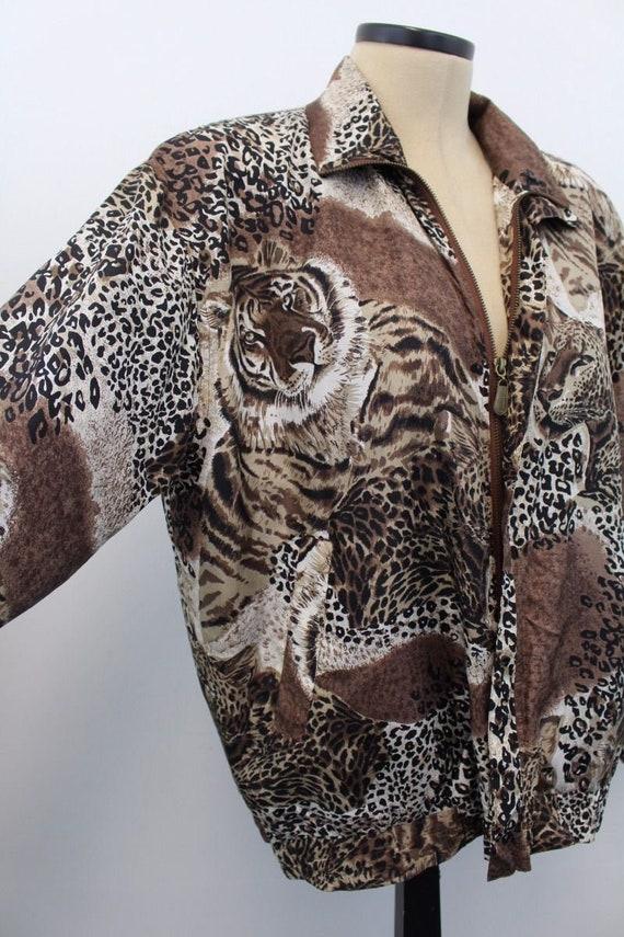 Vintage 1980s Fuda International Silk Jacket L Lar