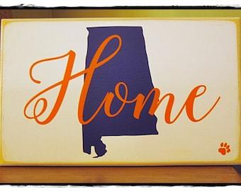 Auburn University HOME Sign; front door sign; Auburn colors; wall art home decor; 10  x 15   sc 1 st  Etsy & Auburn art | Etsy