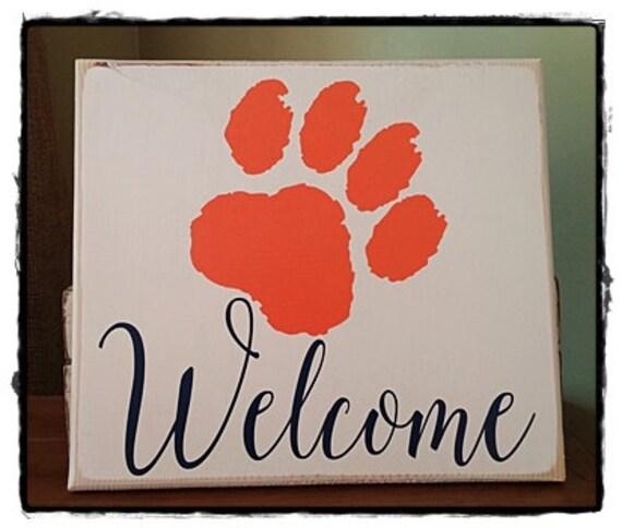 Auburn University Welcome Sign wall art home decor sports | Etsy