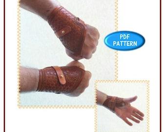 PATTERN - Wrist Support pattern - leathercraft pattern - PDF digital download ONLY