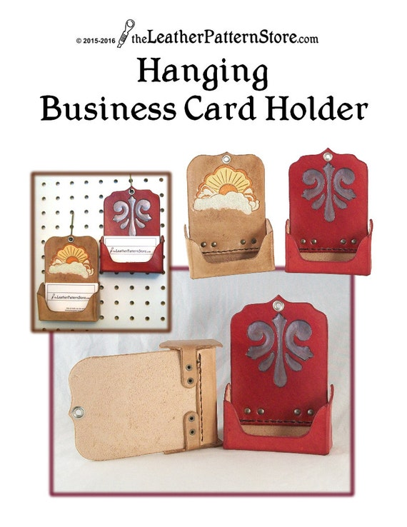 Pattern hanging business card holder leather pattern pdf reheart Gallery