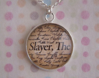 "Buffy The Vampire Slayer ""Slayer, The"" Necklace"
