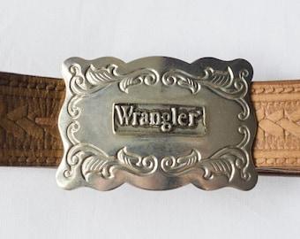 vintage WRANGLER leather belt