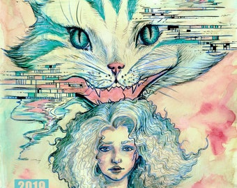 Electric Alice Graphic Novel by Amara - DIGITAL COPY - Sci Fi Alice in Wonderland