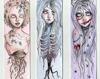 Pastel Horror Princesses Bookmark Set