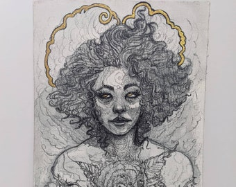 """Limited Edition Print """"Wild Rose"""" Hand Embellished by Amara - ONLY 12 Available"""