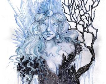 Queen of Frost - Art Print by Amara