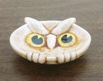 Brown Ceramic Owl Spoon Rest/Holder