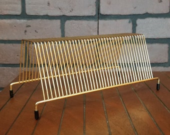 Music Reasonable Vtg Brass And Wood Wire Record 45s Holder/stand Attractive Designs;