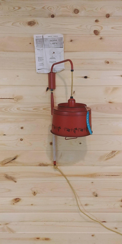 Nos Pendulite Swing Arm Adjustable Red Rustic Early American Etsy Ceiling Fan Wiring Diagram Sears Roebuck
